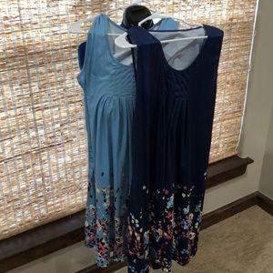 Dresses & Skirts - One cotton summer dresses. Dk Blue-SOLD